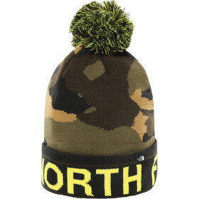 The North Face Ski Tuke Czapka Dzieci, british khaki waxed camo print